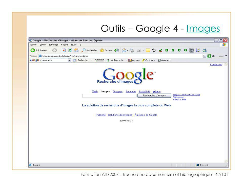 Outils – Google 4 - Images