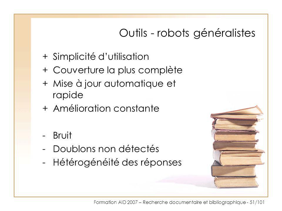 Outils - robots généralistes