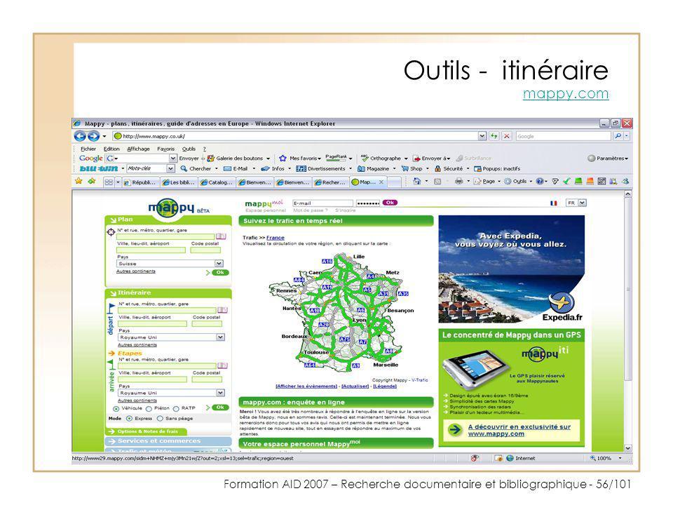 Outils - itinéraire mappy.com