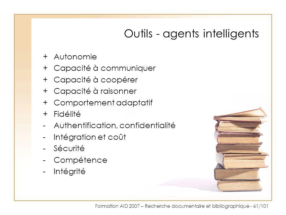 Outils - agents intelligents