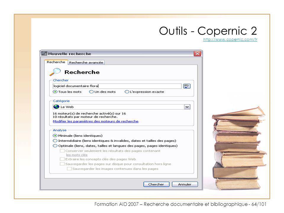 Outils - Copernic 2 http://www.copernic.com/fr