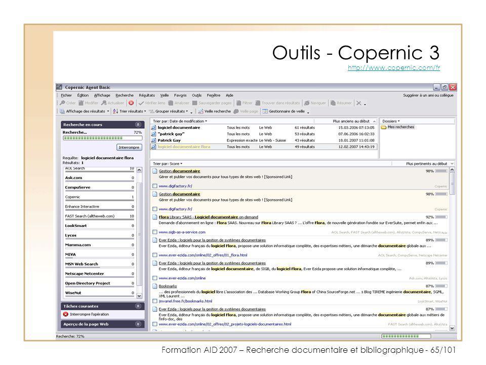 Outils - Copernic 3 http://www.copernic.com/fr