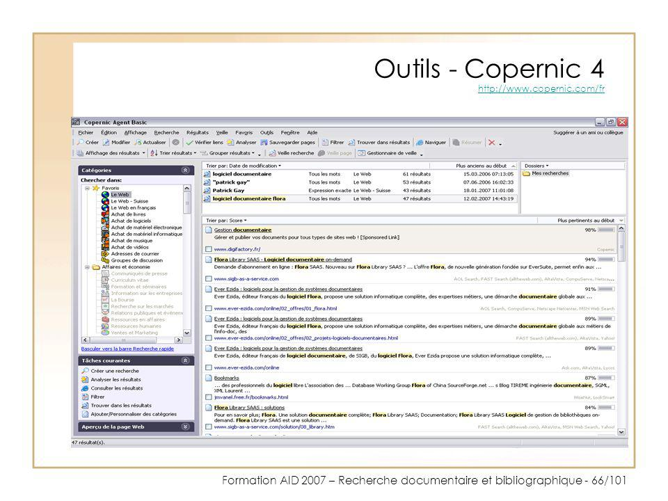 Outils - Copernic 4 http://www.copernic.com/fr