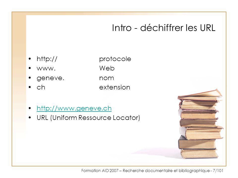 Intro - déchiffrer les URL