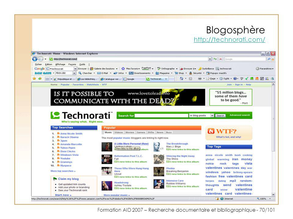 Blogosphère http://technorati.com/