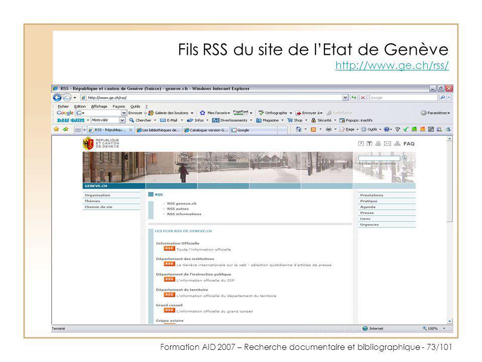 Fils RSS du site de l'Etat de Genève http://www.ge.ch/rss/
