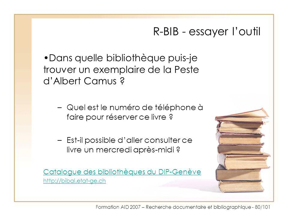 R-BIB - essayer l'outil