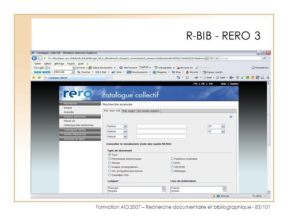 R-BIB - RERO 3