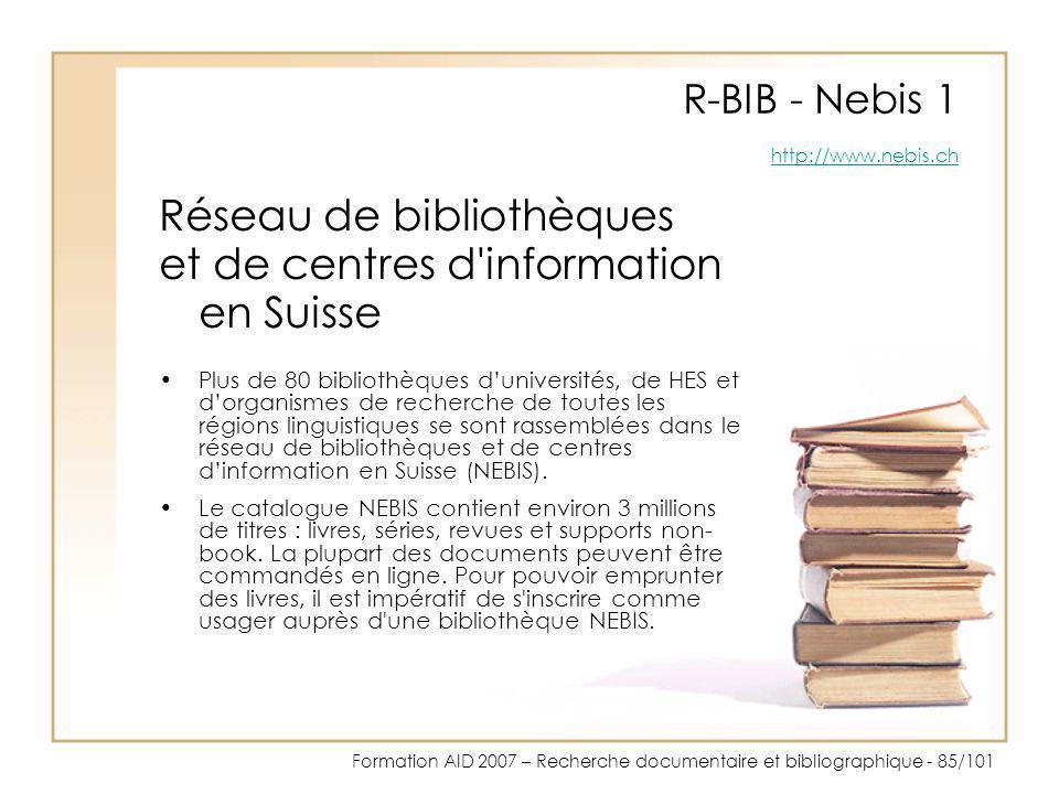 R-BIB - Nebis 1 http://www.nebis.ch