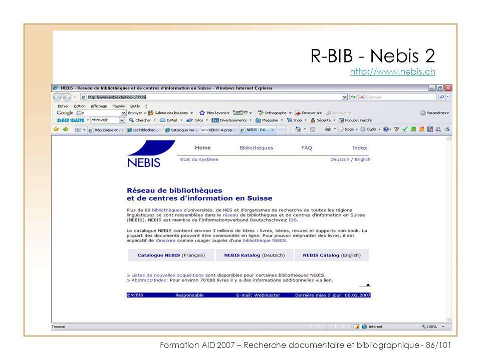 R-BIB - Nebis 2 http://www.nebis.ch