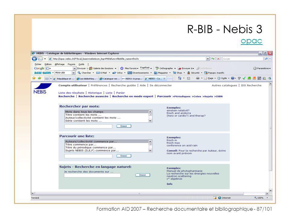 R-BIB - Nebis 3 opac