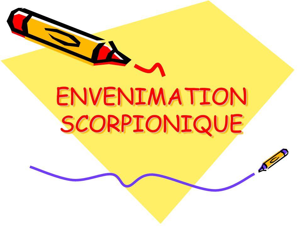 ENVENIMATION SCORPIONIQUE