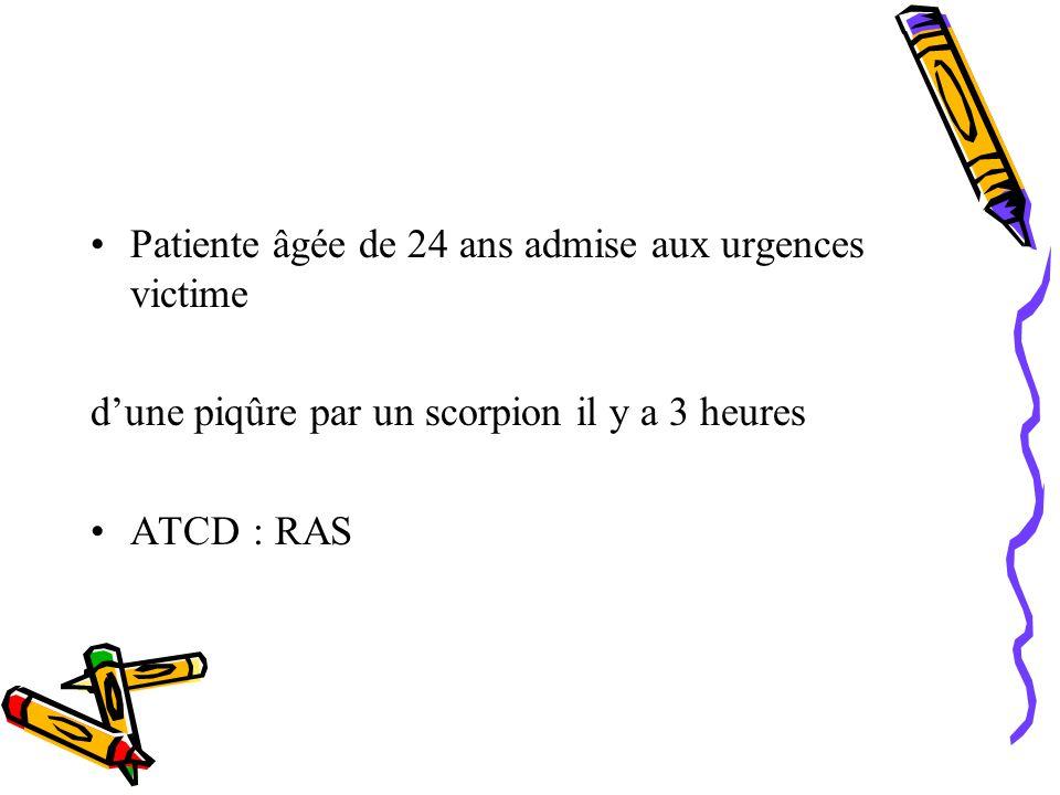 Patiente âgée de 24 ans admise aux urgences victime