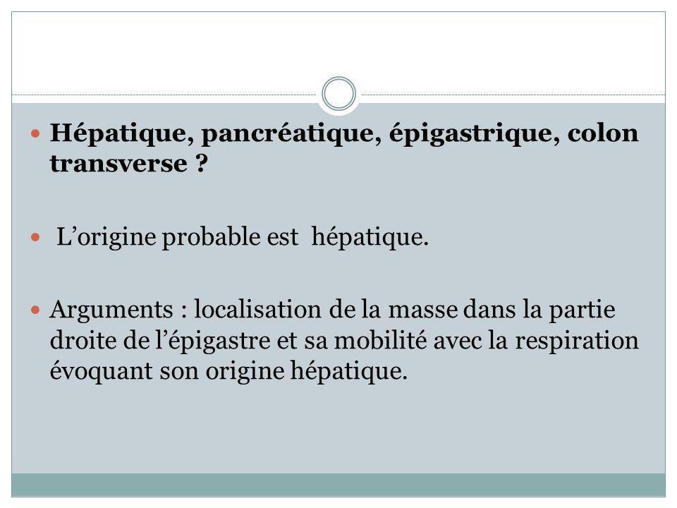 Hépatique, pancréatique, épigastrique, colon transverse