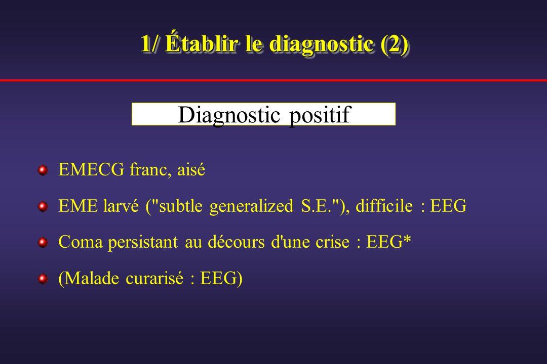 1/ Établir le diagnostic (2)