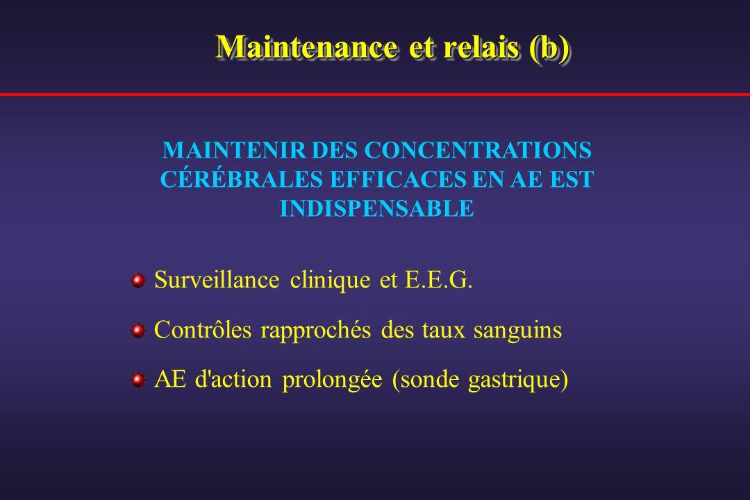 Maintenance et relais (b)