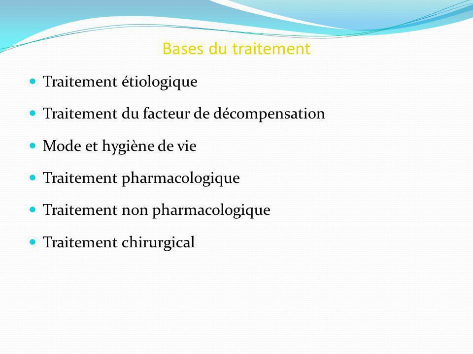 Bases du traitement Traitement étiologique