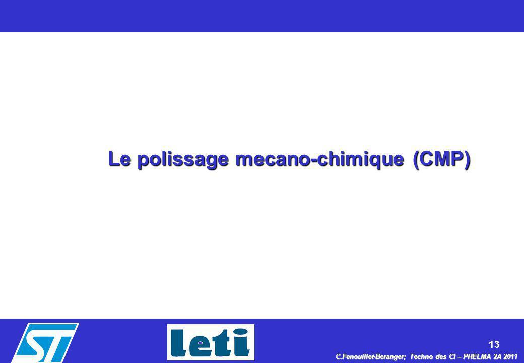 Le polissage mecano-chimique (CMP)