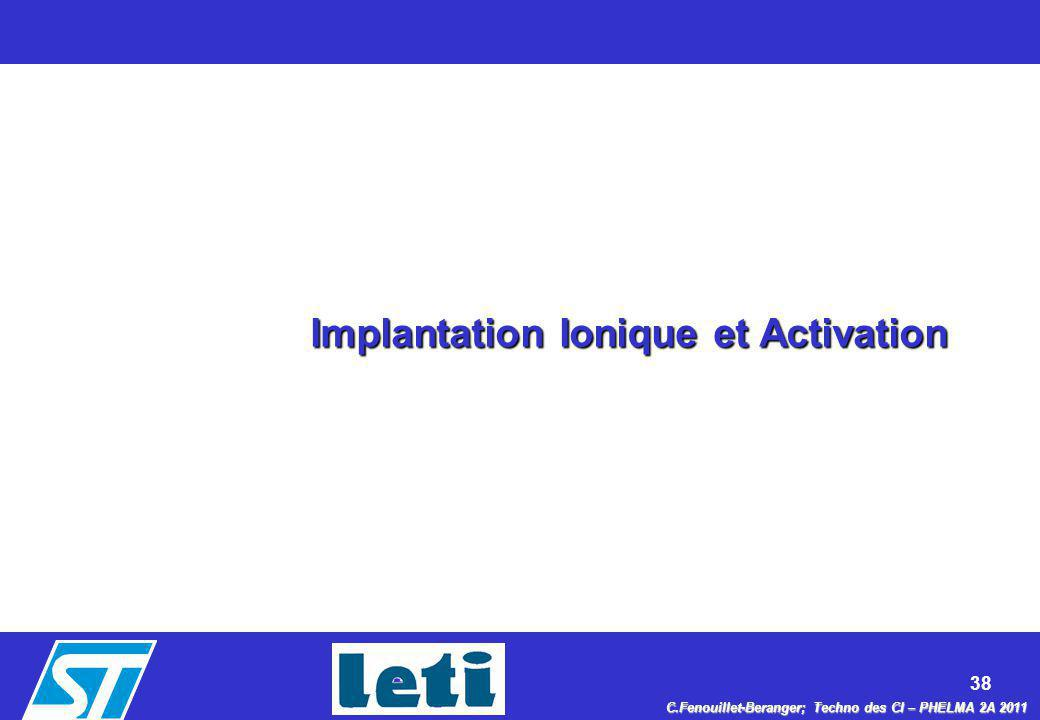 Implantation Ionique et Activation