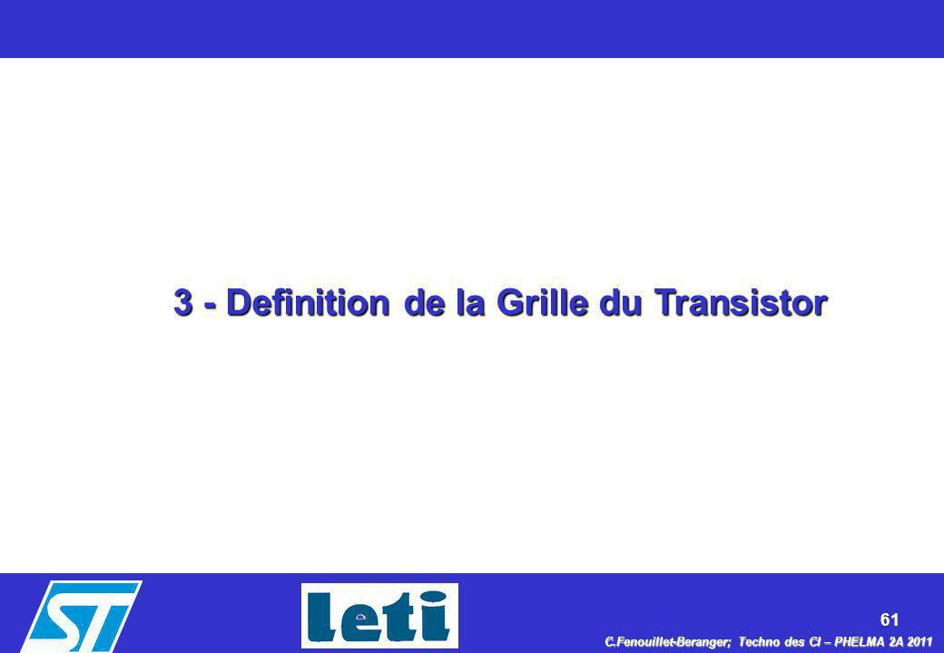 3 - Definition de la Grille du Transistor