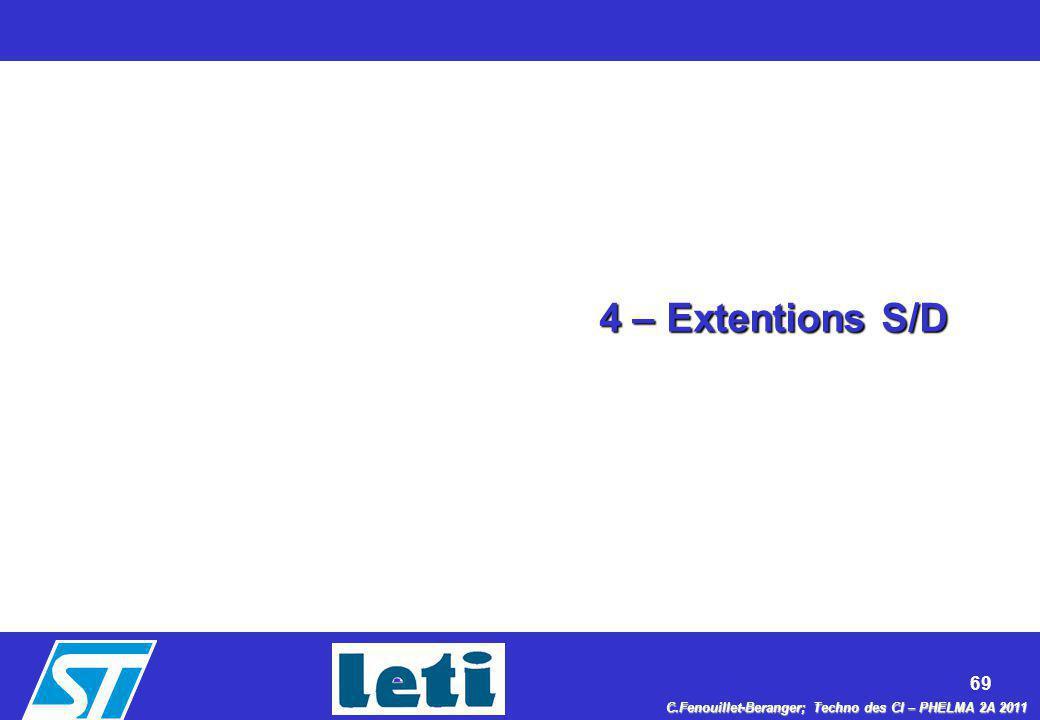 4 – Extentions S/D
