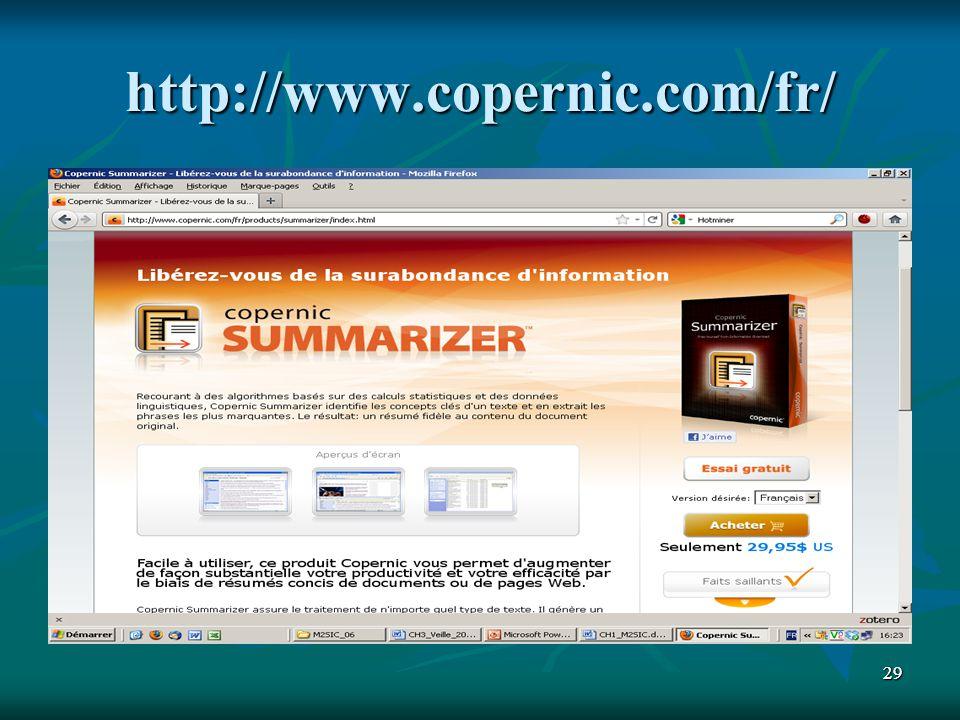 http://www.copernic.com/fr/ 29
