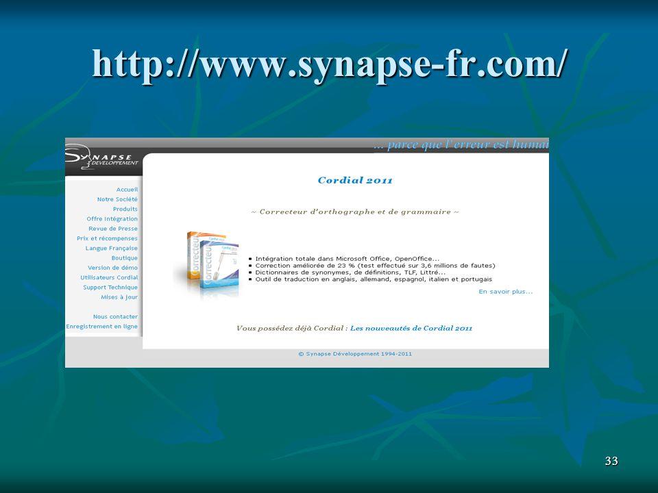http://www.synapse-fr.com/ 33