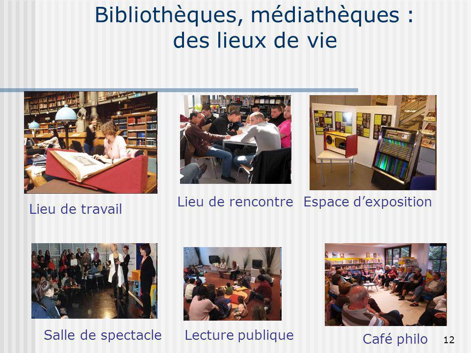 Bibliothèques, médiathèques : des lieux de vie