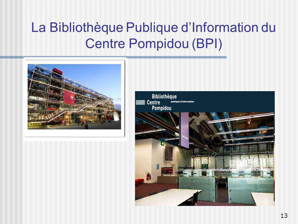 La Bibliothèque Publique d'Information du Centre Pompidou (BPI)