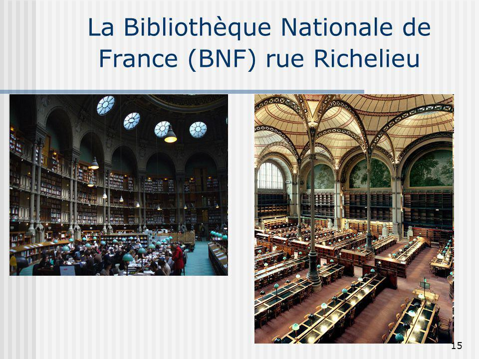 La Bibliothèque Nationale de France (BNF) rue Richelieu