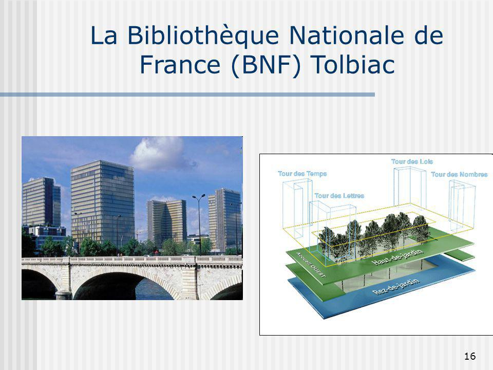 La Bibliothèque Nationale de France (BNF) Tolbiac