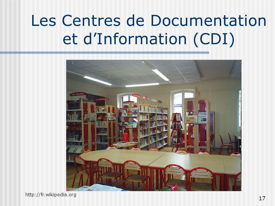 Les Centres de Documentation et d'Information (CDI)