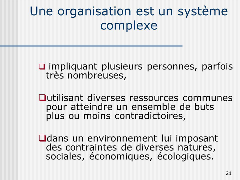 Une organisation est un système complexe