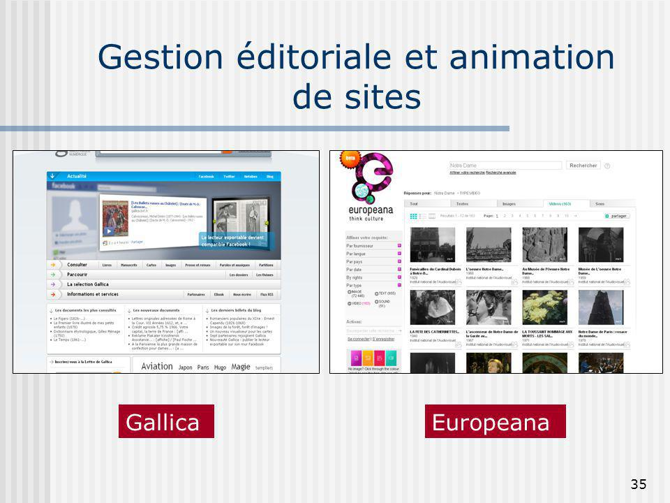 Gestion éditoriale et animation de sites