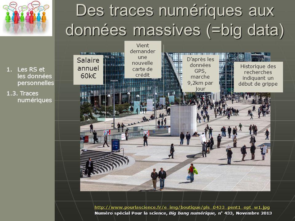 Des traces numériques aux données massives (=big data)