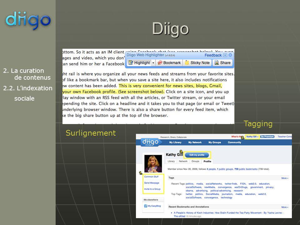 Diigo Tagging Surlignement 2. La curation de contenus