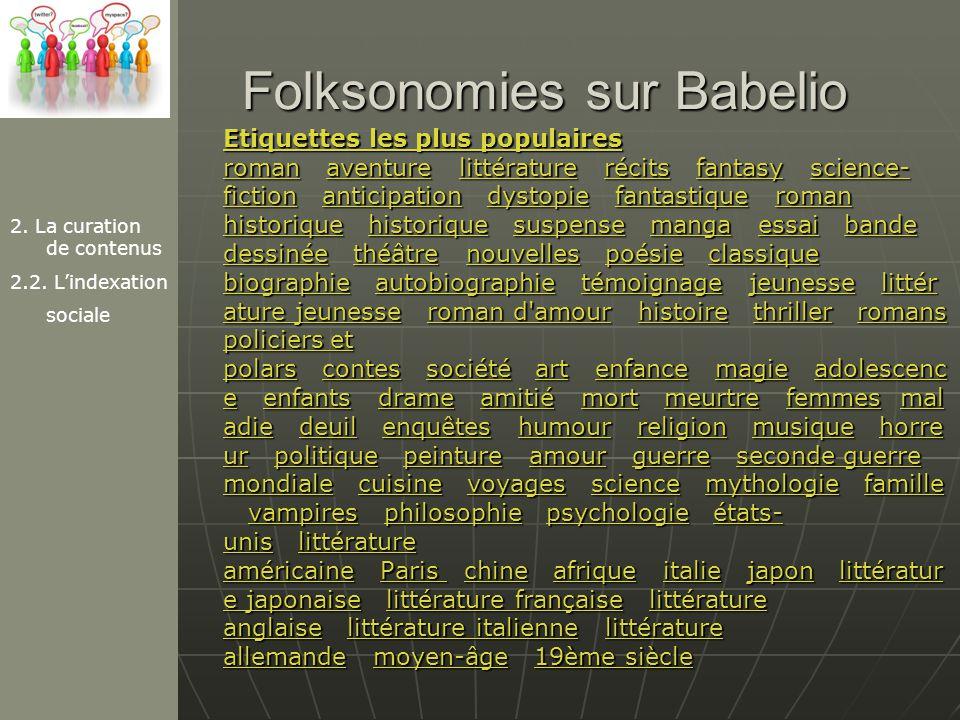 Folksonomies sur Babelio
