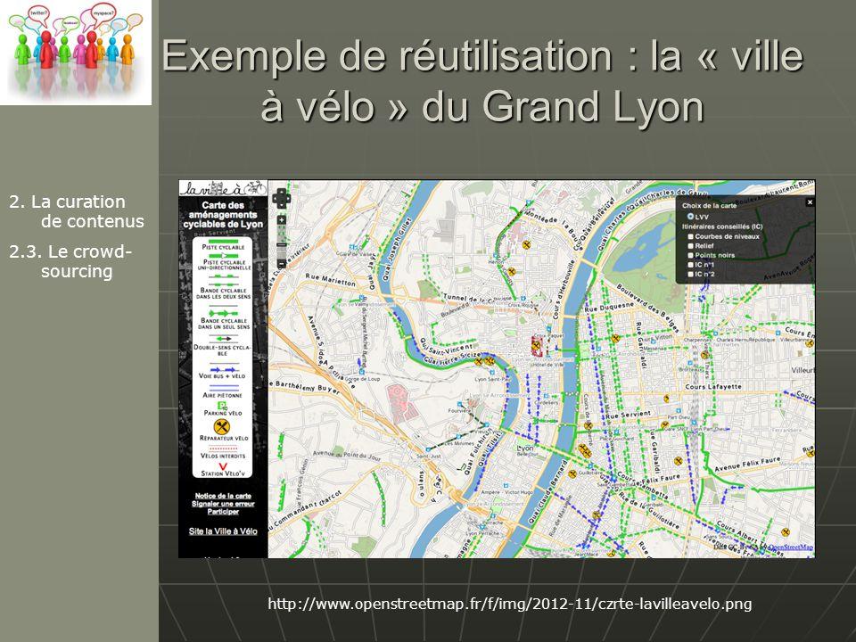 Exemple de réutilisation : la « ville à vélo » du Grand Lyon