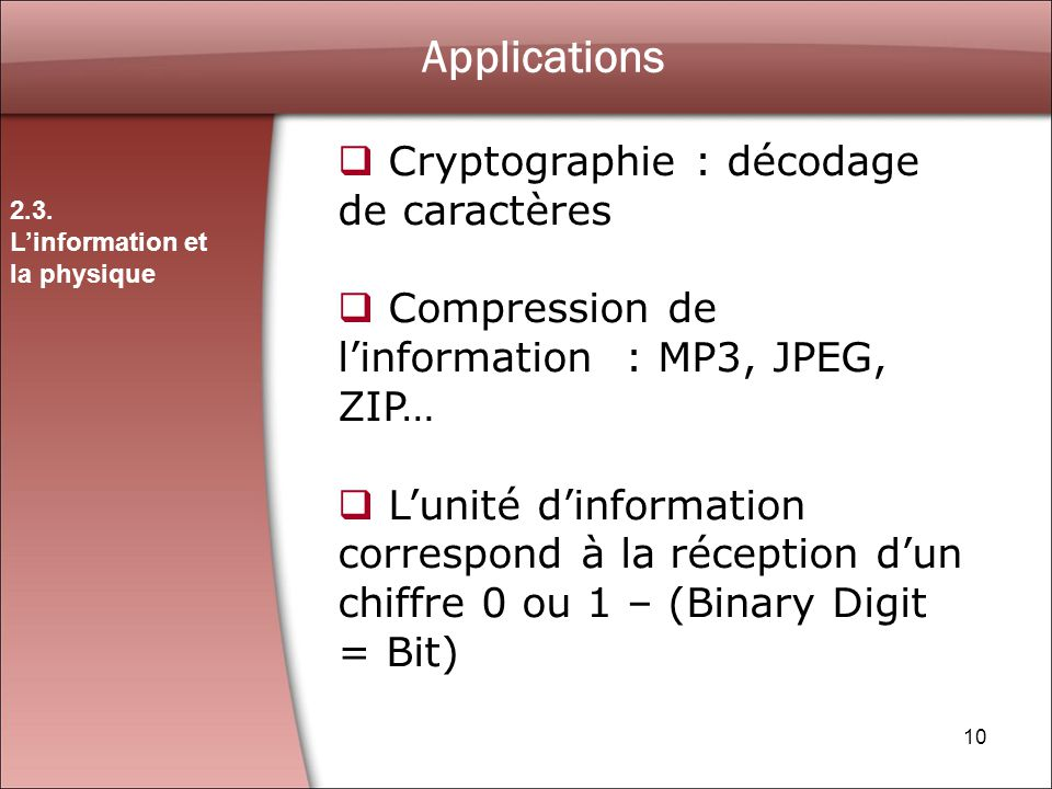 Applications Cryptographie : décodage de caractères