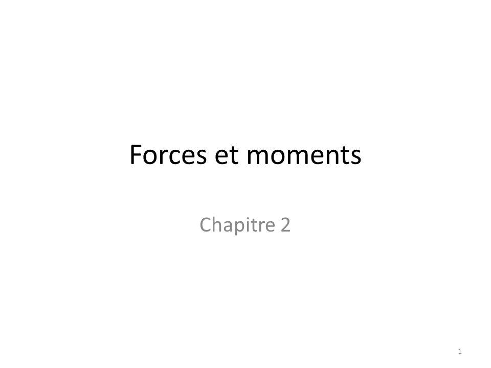 Forces et moments Chapitre 2