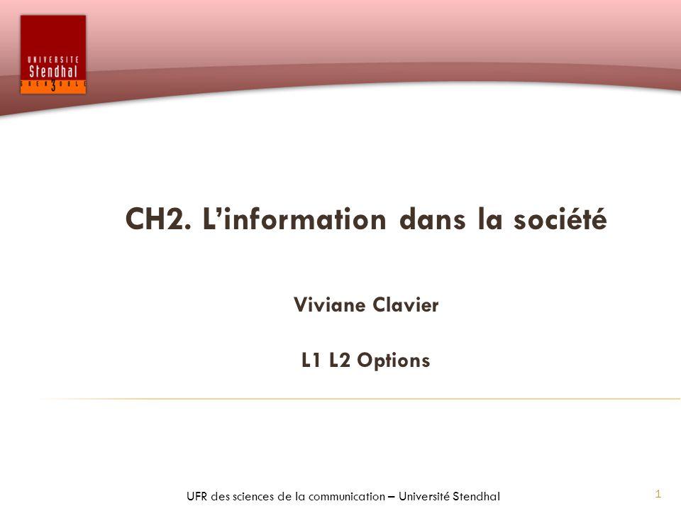 CH2. L'information dans la société