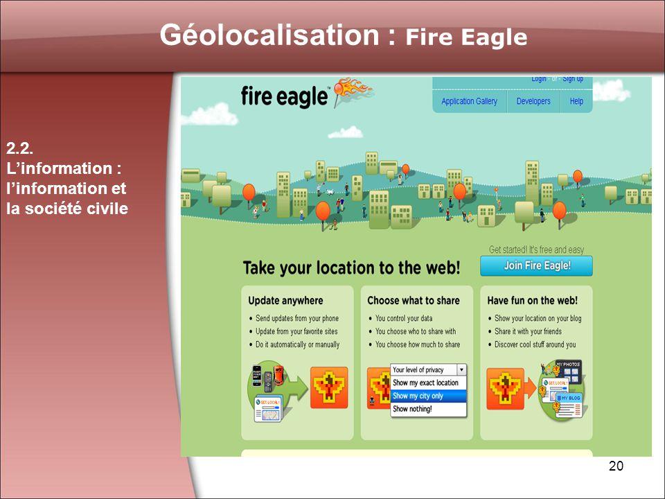 Géolocalisation : Fire Eagle