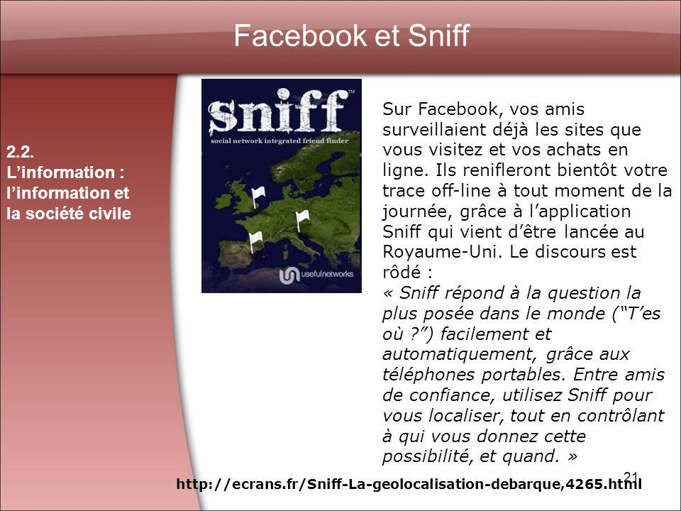 Facebook et Sniff