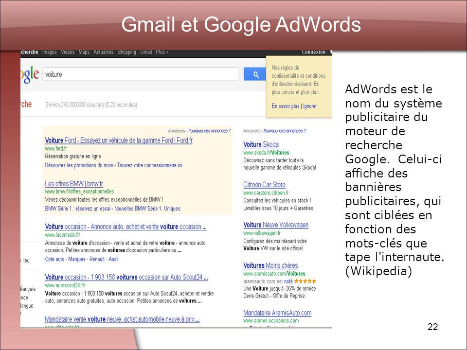 Gmail et Google AdWords