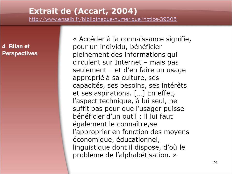 Extrait de (Accart, 2004) http://www.enssib.fr/bibliotheque-numerique/notice-39305.