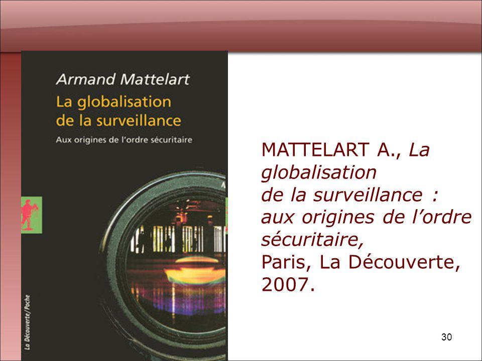 MATTELART A., La globalisation