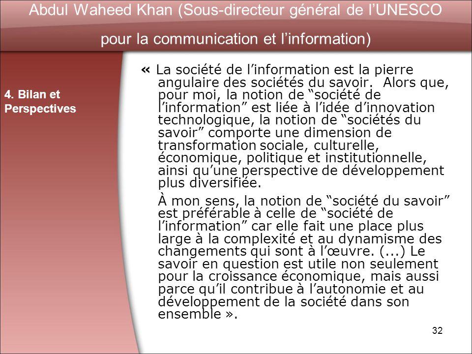 Abdul Waheed Khan (Sous-directeur général de l'UNESCO pour la communication et l'information)