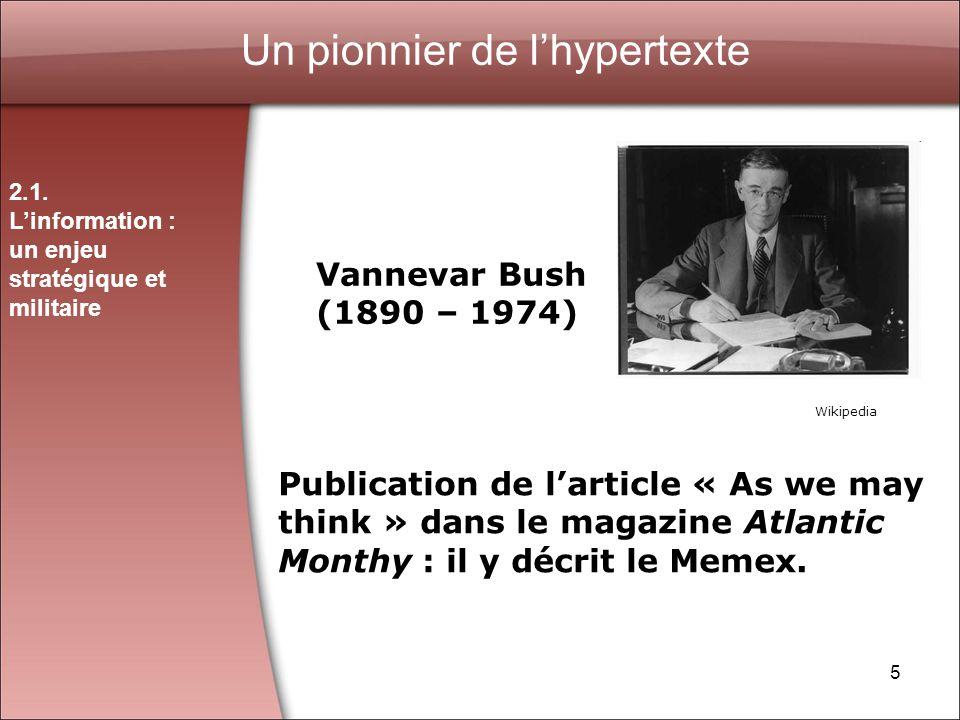 Un pionnier de l'hypertexte