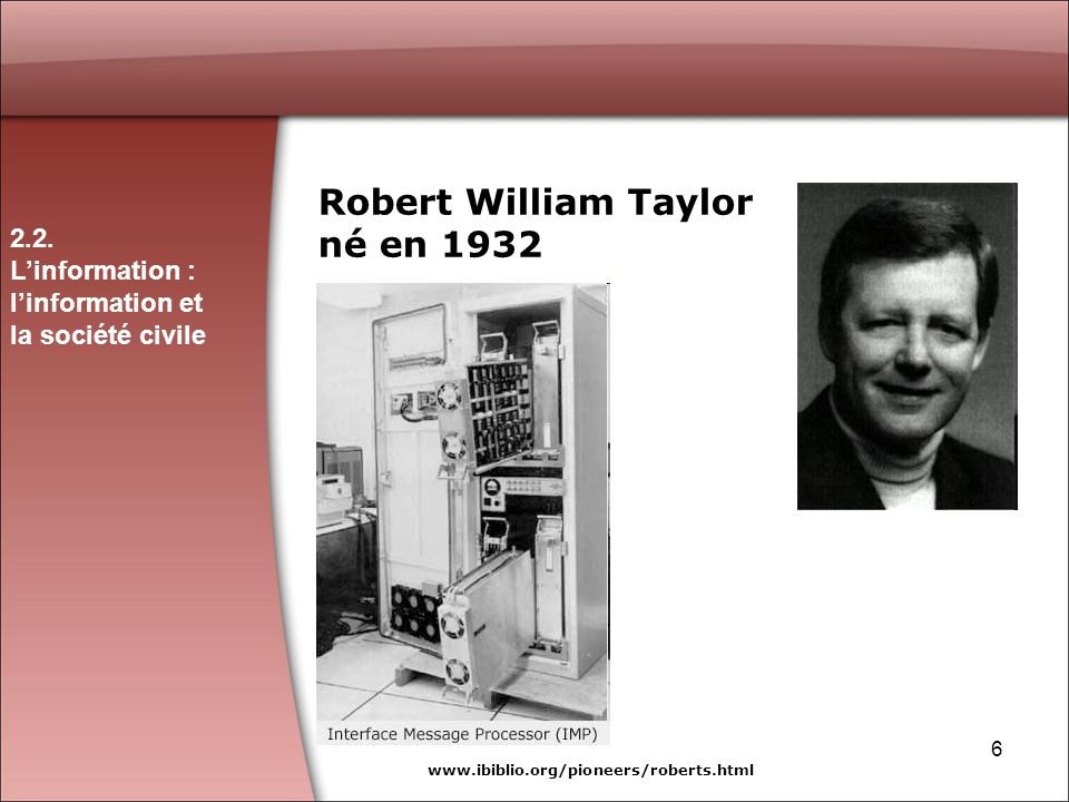 Robert William Taylor né en 1932