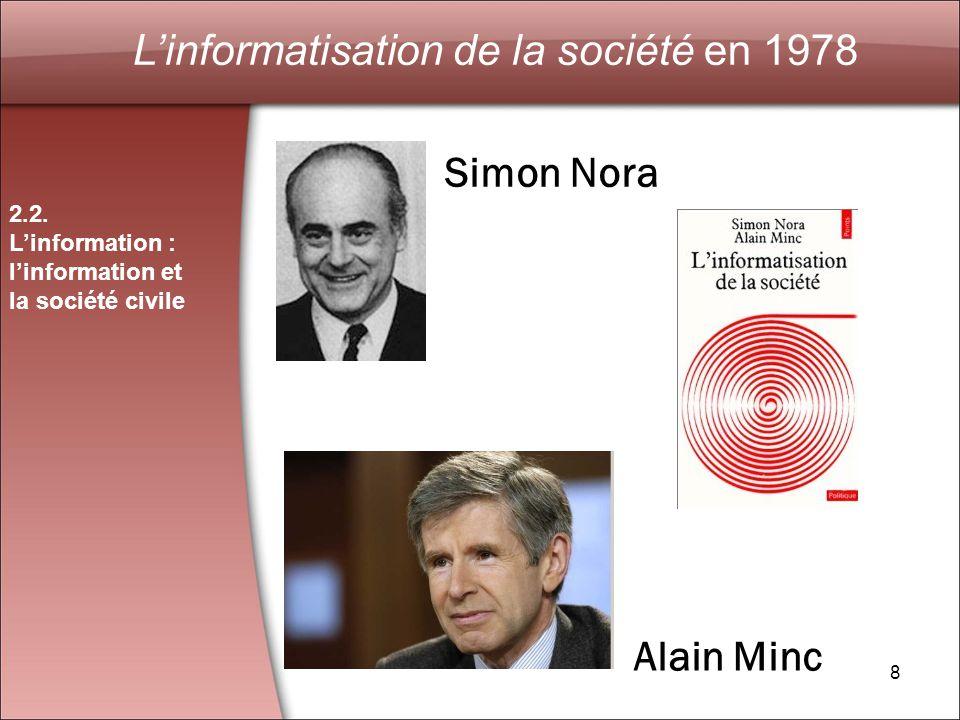 L'informatisation de la société en 1978